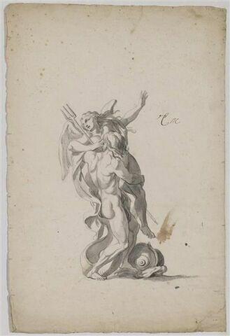 Neptune enlevant une nymphe ailée