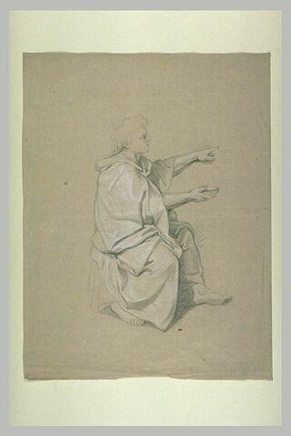 Homme drapé assis