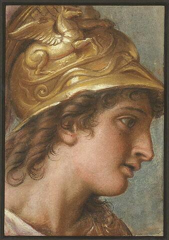 Alexandre, tête d'étude pour la tente de Darius