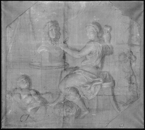 La Sculpture travaillant au buste du roi