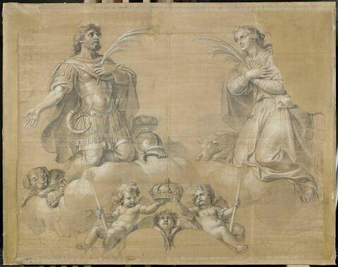 Saint guerrier et sainte Agnès