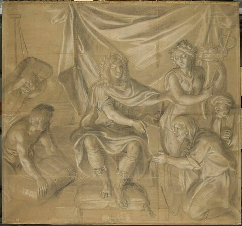 Louis XIV rétablissant le commerce
