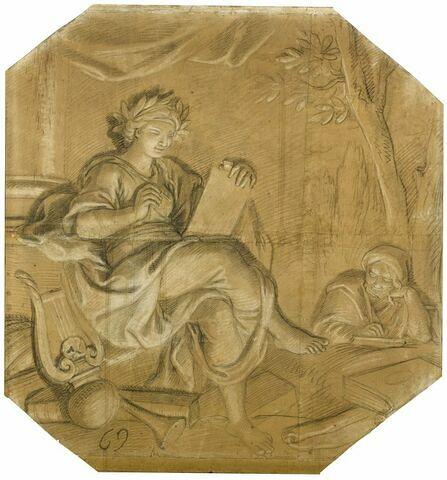 La Poésie célébrant les actions héroïques de Louis XIV