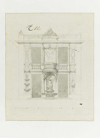 Projet d'élévation pour le pavillon d'Apollon et de Téthys, à Marly