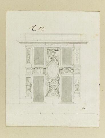Projet d'élévation pour le pavillon de Junon, à Marly