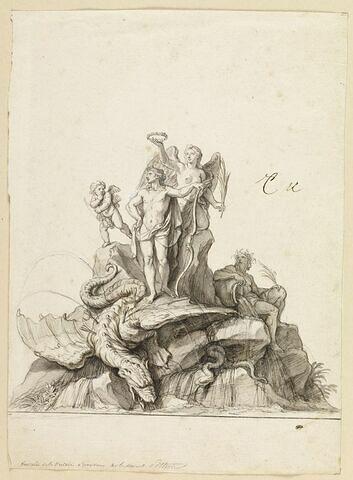 Fontaine de la victoire d'Apollon sur le serpent Python