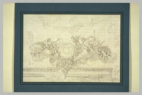 Partie centrale de la coupole du grand salon ovale de Vaux-le-Vicomte