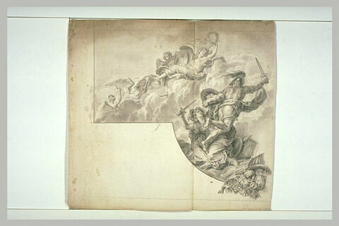 Le Roi prend Maëstricht, 1673 (partie gauche)
