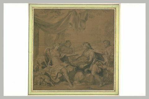 Méléagre présente à Atalante la dépouille du sanglier de Calydon