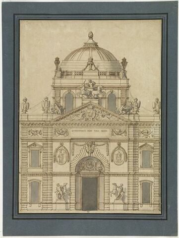 Projet pour la partie centrale de la façade orientale du Louvre