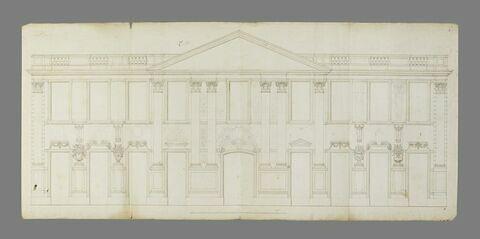 Projet pour la façade du château de Marly