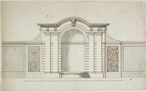 Projet de fontaine dans une niche