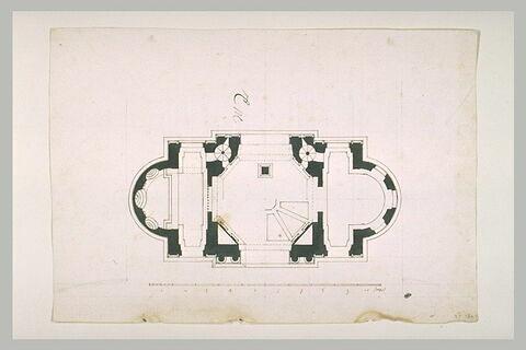Plan d'un pavillon