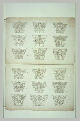 Dix-huit chapiteaux