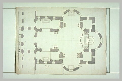 Plan d'une chapelle (milieu de l'aile nord)