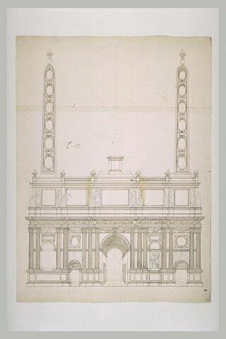 Projet pour l'arc de triomphe de la rue Saint-Antoine à Paris
