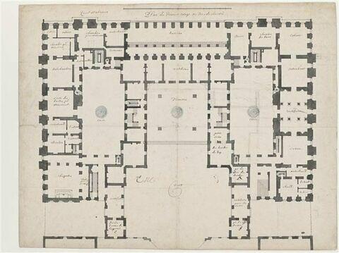 Plan du rez-de-chaussée du château de Versailles