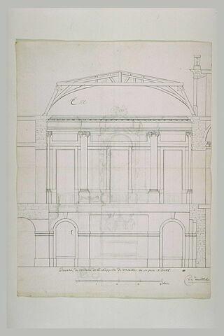 Elévation intérieur de la troisième chapelle de Versailles