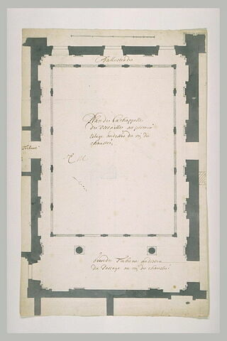 Plan de la troisième chapelle de Versailles (premier étage)