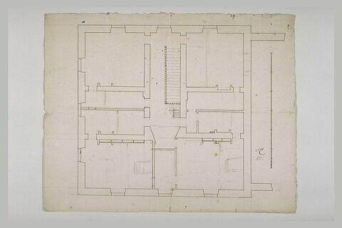 Plan intérieur d'un bâtiment carré