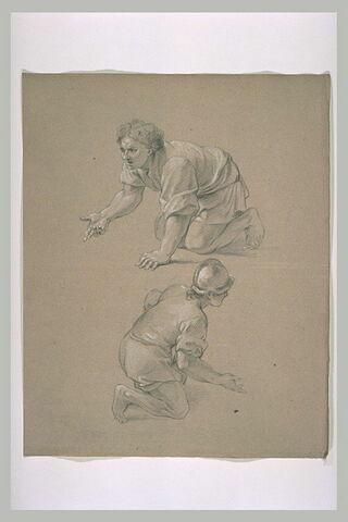 Deux hommes à genoux