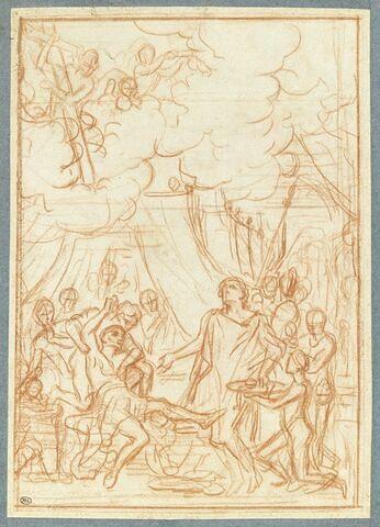 Saint Louis soignant ses soldats atteints de la peste