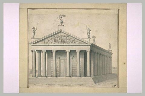 Un temple d'ordre ionique à colonnes
