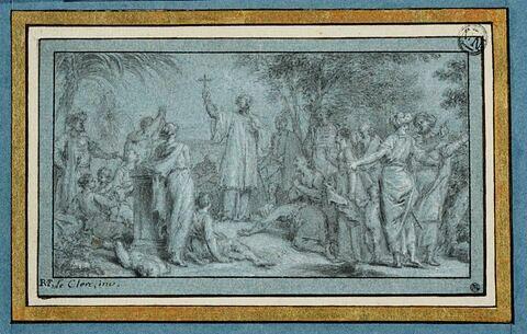Saint François Xavier allant prêcher la religion chrétienne