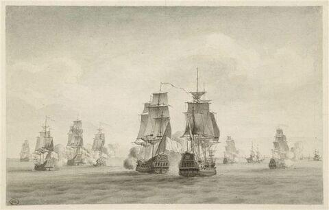 Jean Bart, montant la Palme et commandant une escadre de cinq corsaires