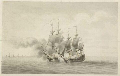Jean Bart prend un vaisseau hollandais et plusieurs bâtiments marchands