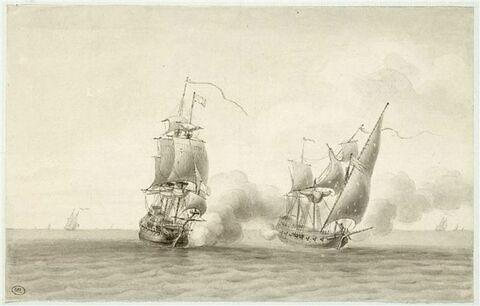Jean Bart prend un corsaire saletin à la paix de 1678