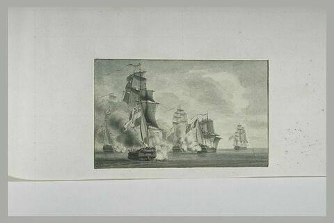 Première position du combat du Formidable devant Cadix, 1801