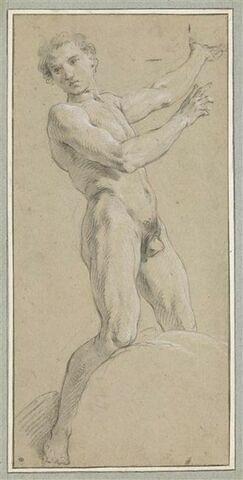 Jeune homme nu, debout