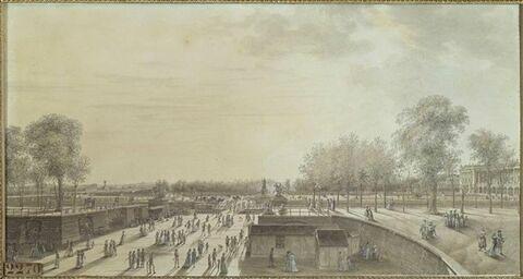Vue de la place Louis XV et des Champs Elysées, et du jardin des Tuileries