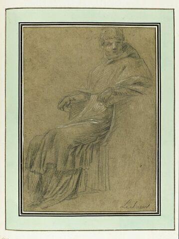 Le pape Victor III : étude pour le treizième tableau
