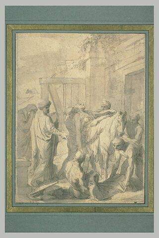 Tobit donnant une sépulture à ses correligionnaires