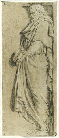 Un atlante soutenant la table du panégyrique de saint Bruno