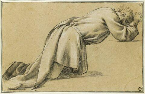 Saint Bruno à genoux : étude pour le deuxième tableau
