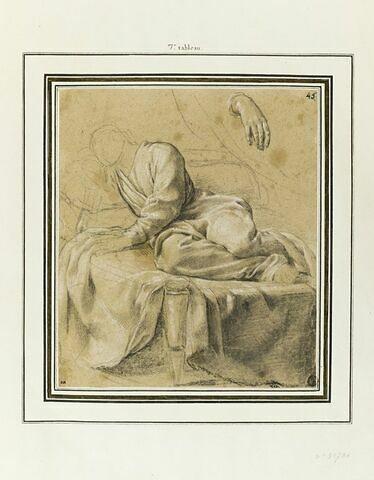 Saint Bruno endormi : étude pour le septième tableau