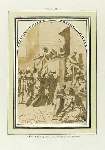 Saint Bruno et ses compagnons distribuant leurs biens aux pauvres