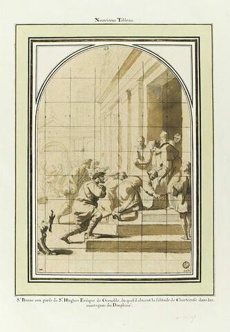 Saint bruno aux pieds de saint Hugues