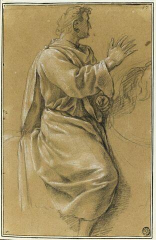 Homme à cheval : étude pour le dixième tableau de la vie de saint Bruno