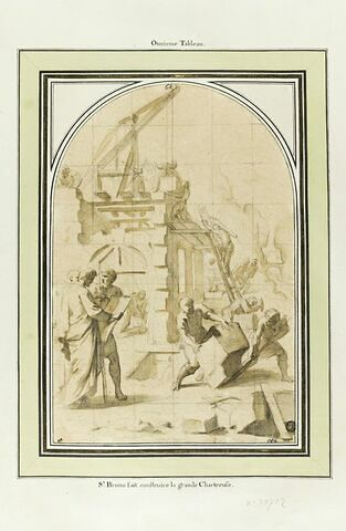 Saint Bruno faisant construire la grande Chartreuse