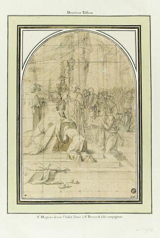 Saint Hugues donne l'habit blanc à saint Bruno et à ses compagnons