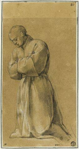 Un homme à genoux, les bras croisés : étude pour le douzième tableau