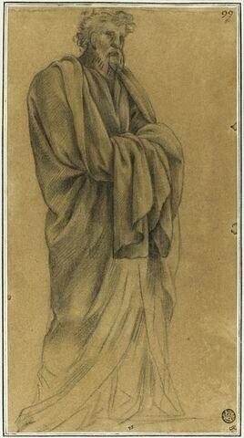 Homme drapé debout : étude pour le quatorzième tableau