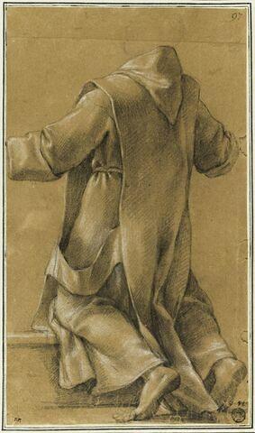 Un chartreux, ouvrant les bras, de dos : étude pour le quatorzième tableau