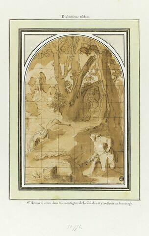 Saint Bruno en Calabre : étude pour le dix-huitième tableau