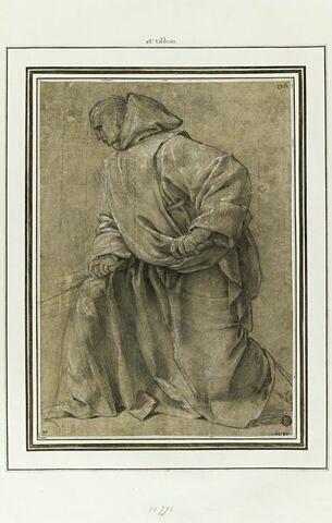 Un chartreux tenant une pelle : étude pour le dix-huitième tableau