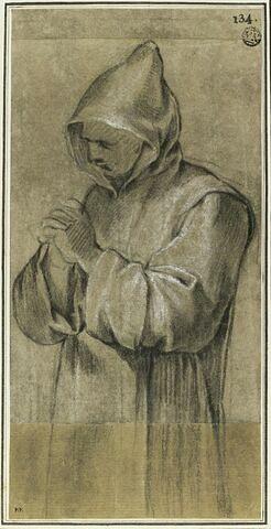 Un chartreux, les mains jointes : étude pour le vingt-et-unième tableau